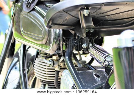 An image of a vintage motorcycle - Bad Pyrmont/Germany - 07/08/2017