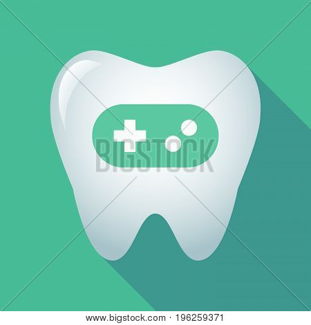 Long Shadow Tooth With A Game Pad