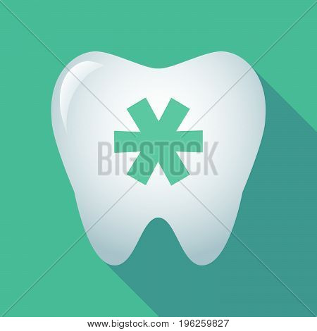 Long Shadow Tooth With An Asterisk