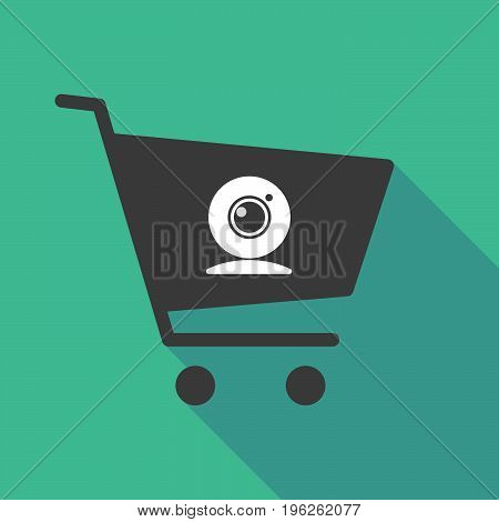 Long Shadow  Shopping Cart With A Web Cam