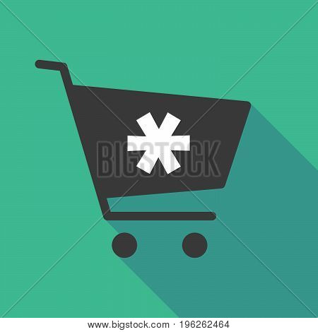 Long Shadow  Shopping Cart With An Asterisk