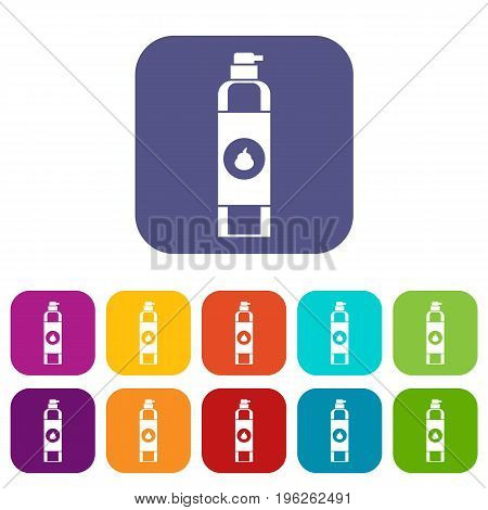 Air freshener icons set vector illustration in flat style in colors red, blue, green, and other
