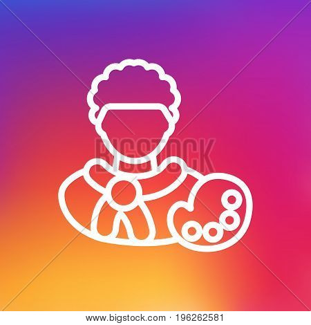 Isolated Painter Outline Symbol On Clean Background