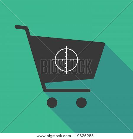 Long Shadow  Shopping Cart With A Crosshair