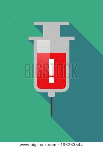 Long Shadow  Syringe With An Admiration Sign