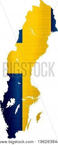 flag map sweden illustration country  nation  design