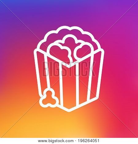 Isolated Snack Outline Symbol On Clean Background