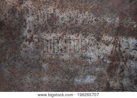 Peeling paint blue rusty textured metal background