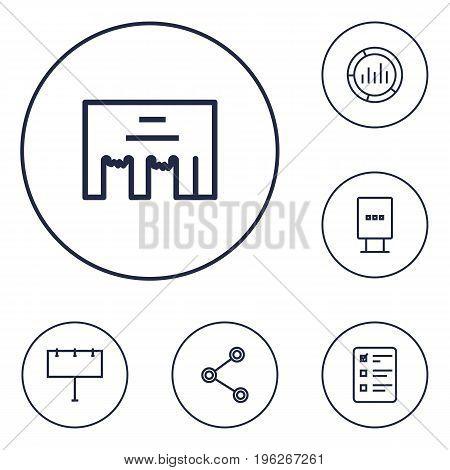 Set Of 6 Trade Outline Icons Set