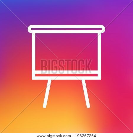 Isolated Blackboard Outline Symbol On Clean Background