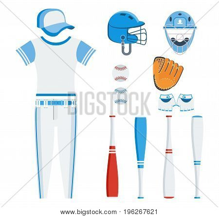 Set Of Baseball Eqipment