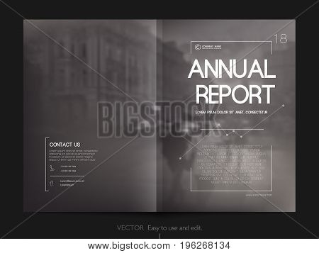 Cover design annual report, vector template brochures, flyers, presentations, leaflet, magazine a4 size. Minimalistic design background
