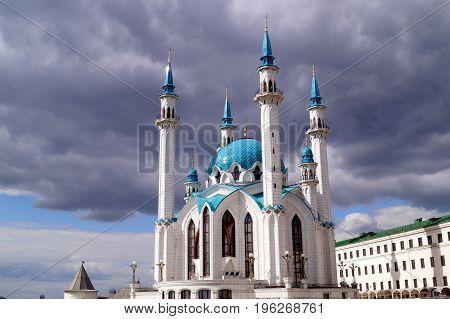 Kul Sharif mosque in Kazan Kremlin Republic of Tatarstan Russia