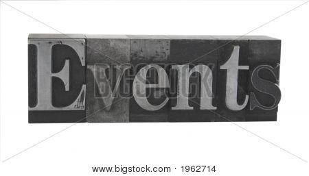 Events In Letterpress Metal Type