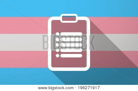 Long Shadow  Trans Gender Flag With A Report