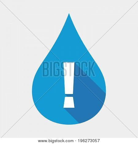Isolated Water Drop With An Admiration Sign