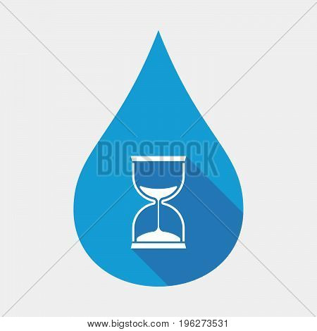 Isolated Water Drop With A Sand Clock
