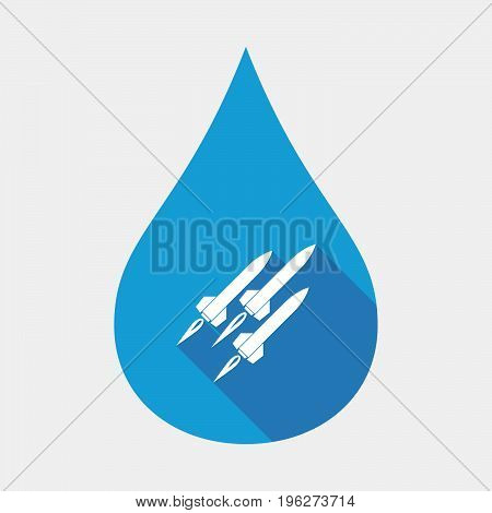 Isolated Water Drop With Missiles