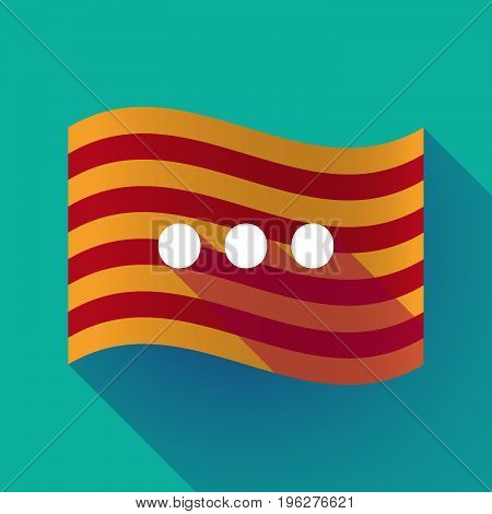Long Shadow Catalonia Flag With  An Ellipsis Orthographic Sign