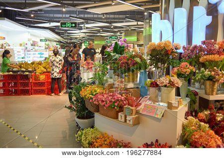 SHENZHEN, CHINA - CIRCA MAY, 2015: blt supermarket in ShenZhen. blt an acronym of