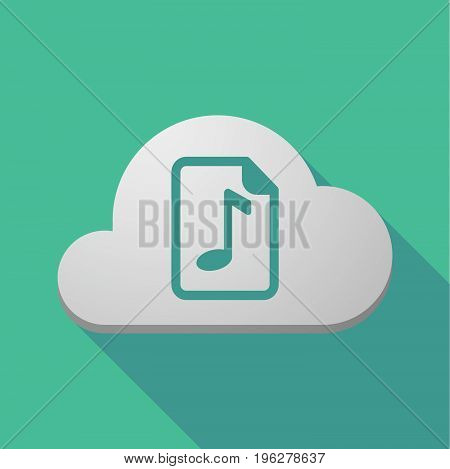 Long Shadow Cloud With  A Music Score Icon