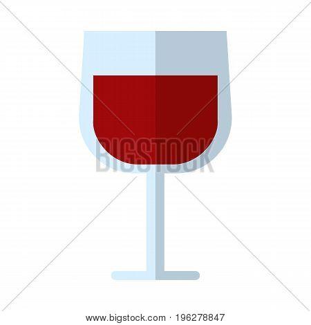 Wine glass flat icon, vector sign, colorful pictogram isolated on white. Symbol, logo illustration. Flat style design