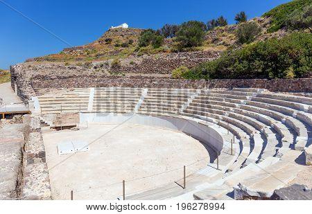 Ancient Roman theater, Milos island, Cyclades, Greece