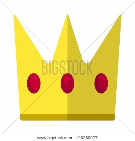 King crown flat icon, vector sign, colorful pictogram isolated on white. Luxury, VIP symbol, logo illustration. Flat style design