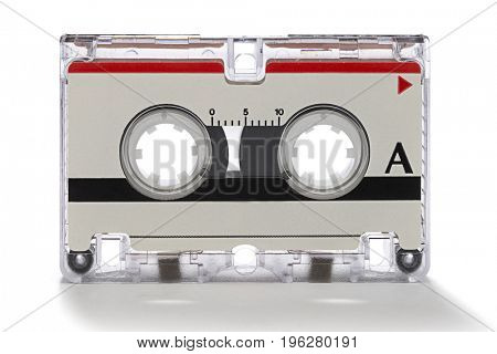 Cassette tape isolated on white background.