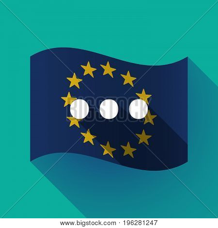 Long Shadow Eu Flag With  An Ellipsis Orthographic Sign