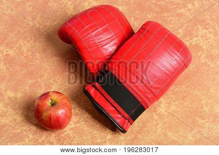 Sport Equipment And Fruit Orange Texture Paper Background