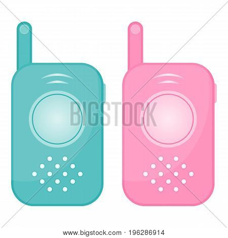 Set Of Two Baby Monitors Isolated On A White Background. Vector Illustration.