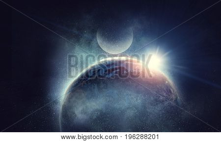 Earth and galaxy