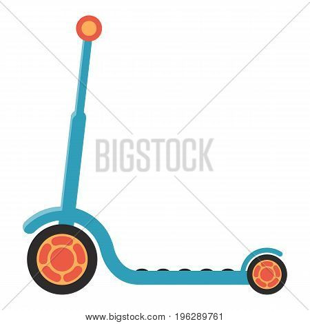 Kids Kick Scooter Isolated On A Background. Vector Illustration.