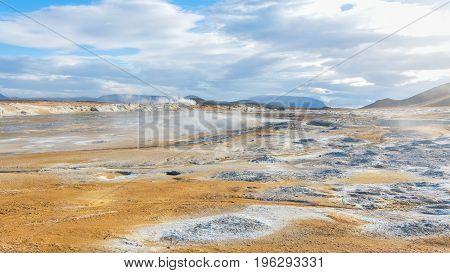 Amazing Namafjall Geothermal Area in Hverir, Iceland