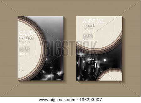 Brown eco modern cover book Brochure template design annual report magazine and flyer layout Vector a4