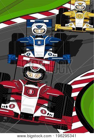 F1 Racing Car Scene