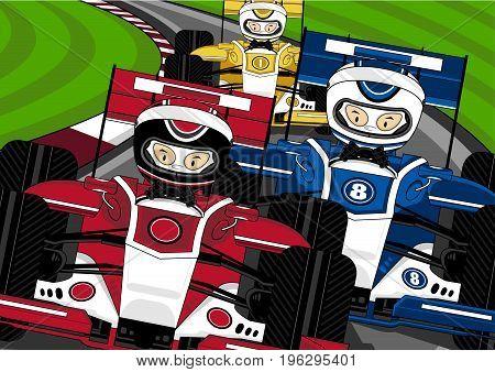 3 F1 Cars On Track