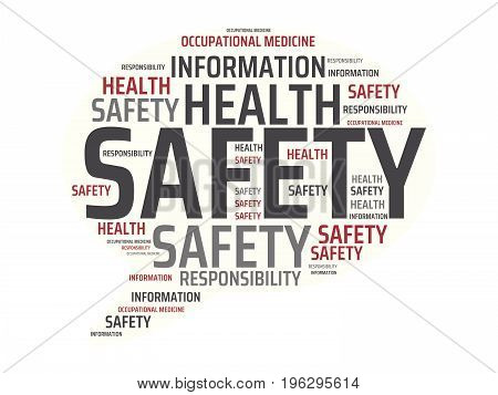 Safety - Danger - Image With Words Associated With The Topic Work Safety, Word, Image, Illustration