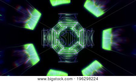 Abstract Science Fiction Futuristic Background 3D Illustration
