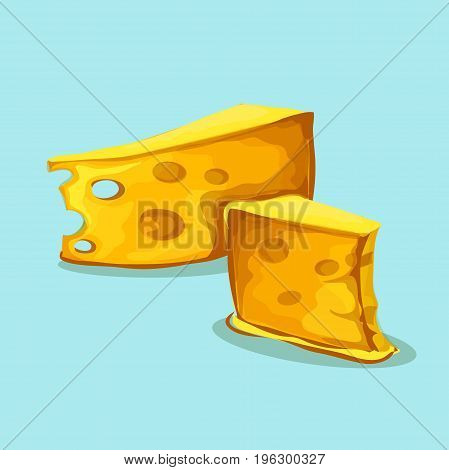 Cheese. Cheese icon vector, filled flat sign