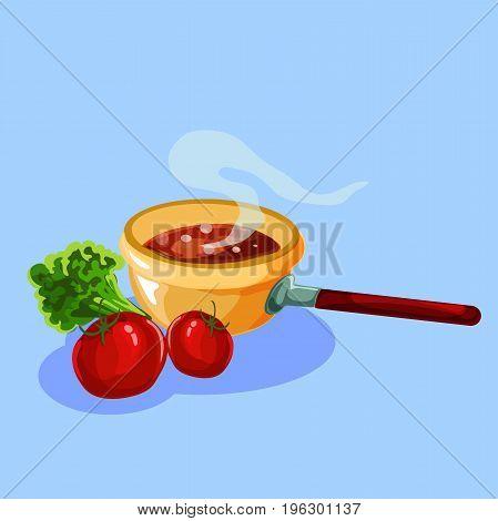 Preparation of food for Thanksgiving. Illustration for your design