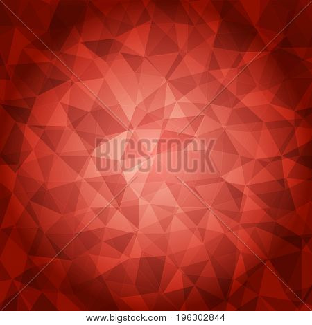 Red Polygonal Illustration, Which Consist Of Triangles