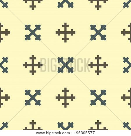 Heraldic royal crest medieval knight elements vintage king symbol heraldry seamless pattern vector illustration. Historical insignia crown luxury ornament graphic.