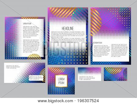 Corporate identity branding template. Documentation for business. Abstract geometric background
