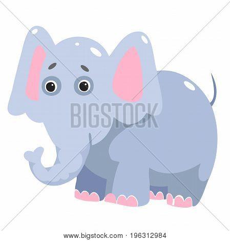 Cute elephant cartoon. Vector illustration for your design. Children s themes