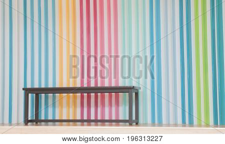 beutiful background rainbow with brown wood table