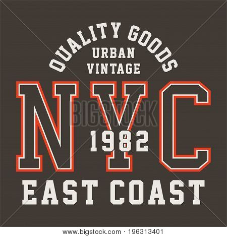 graphic design QUALITY GOODS URBAN for shirt and print