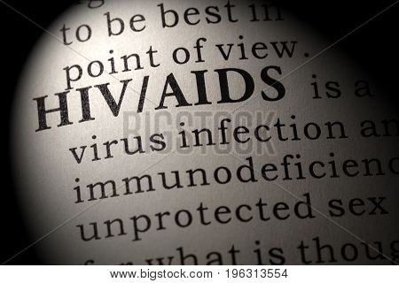 Fake Dictionary Dictionary definition of the word HIV/AIDS. including key descriptive words.