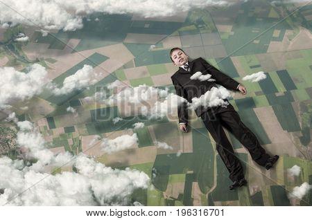 Kid dreaming to acieve success